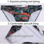 YUZHOU Mens Bikini Swimwear Sexy Swim Briefs Pattern Bathing Suit Quick Dry Swimsuit with Drawstring