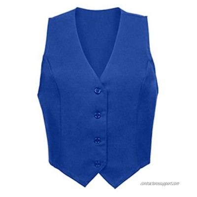 SixStarUniforms Women's Unlined Fitted Work Vest