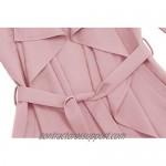 UAUNG Women's Trench Cardigan Casual Waterfall Collar Pockets Wrap Sleeveless Vest w/Belt